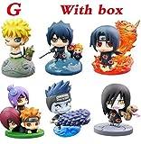 XTOY Naruto - Set 6 Figuras 5 cm Uchiha Itachi Sasuke Orochimaru Konan Pain Hoshigaki Kisame Sasori / 6 pcs Figures 4' New in Box