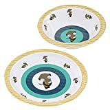 Lässig Kindergeschirr Set Wildlife Meerkat // Lässig Baby`s Schale & Esslern-Teller // 100% Melamin