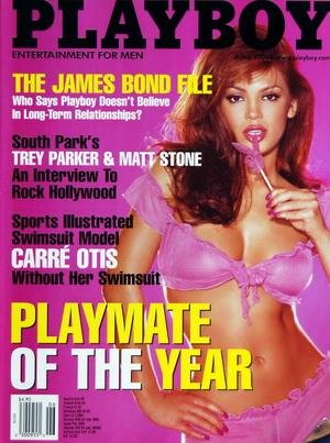 PLAYBOY EDITION US du 01/06/2000 - THE JAMES BOND FILE - SOUTH PARK'S TREY PARKER AND MAT STONE - SPORTS ILLUSTRATED SWIMSUIT MODEL CARRE OTIS WITHOUT HER SWIMSUIT - PLAYMATE OF THE YEAR