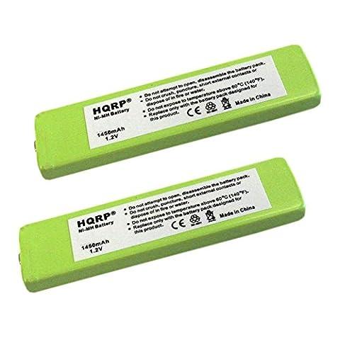 HQRP 2-Pack Battery for Panasonic HHF-1PSC RP-BP140H RP-BP61 RP-BP61PY SL-CT730
