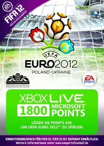 Xbox 360 - Live Points Card 1800 - im UEFA Euro 2012 Design (FIFA 12 Add-On nicht enthalten) (Euro-2012-trikot)
