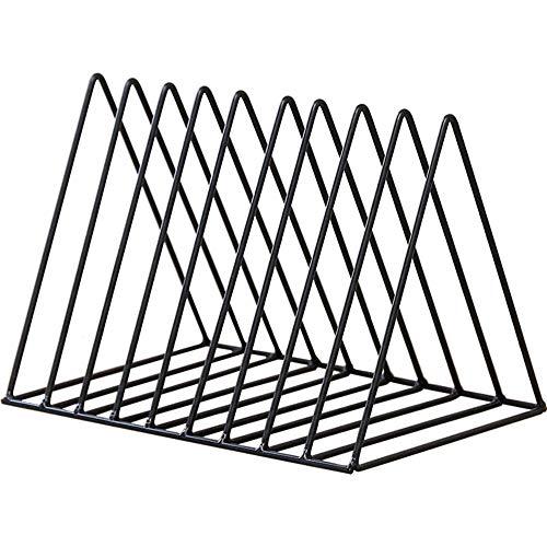 Ludage Wohnaccessoires Handwerk Dreieckige minimalistisch Eisen Desktop Bücherregal Büro-Regal