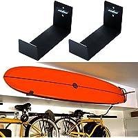 Unho® Soporte de Pared para Tabla de Surf, Un Par de Sostenedor Colgante, Estante de Pared para Tablas de Surf,de Aluminio Inoxidable,18x10x7cm