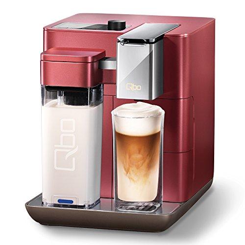 Tchibo Qbo You-Rista Kaffee Kapselmaschine inkl. Milchaufschäumer - Amazon Alexa kompatibel (Echo Dot) Vibrant Red