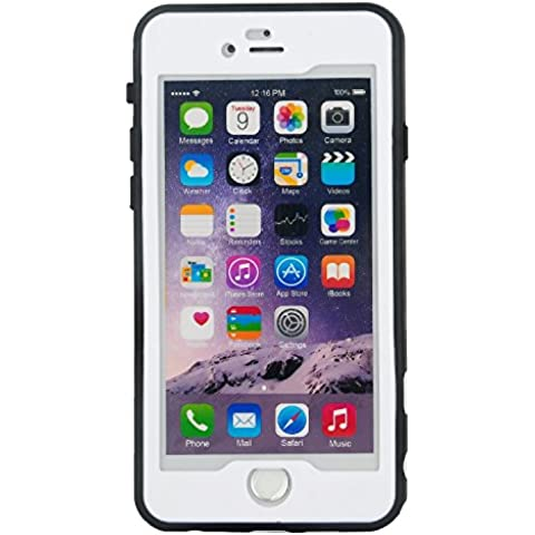 Julyfox Ultra Slim IPX8 Professional Waterproof Case For iPhone 7 Plus(5.5 inch) Scratchproof Buttons and Touch Compatible (White)