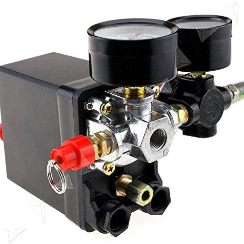 YESPER 230V 125PSI Compresseur d'air Pressostat Triphasé Pressostat Vanne de contrôle Avec le régulateur d'air et soupage et jauge