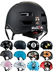 Idea Regalo - Skullcap® Casco BMX - Casco Skate - Casco Bici, Taglia L (55 – 58 cm), Design: Dark World