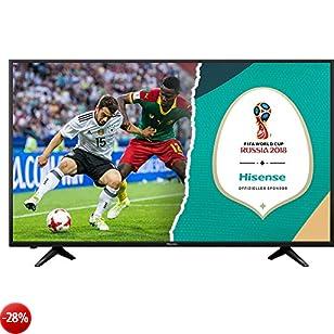 HISENSE H50AE6000 TV LED Ultra HD 4K HDR, Precision Colour, Super Contrast, Smart TV VIDAA U, Tuner DVB-T2/S2 HEVC HLG, Crystal Clear Sound 20W, Wi-Fi