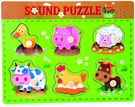 Small Foot - 10330 - Puzzle À Poser - Bruits d'animaux | économique Et Pratique