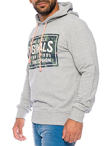JACK & JONES -  Felpa  - Basic - Maniche lunghe  - Uomo chiaro grigio Melange