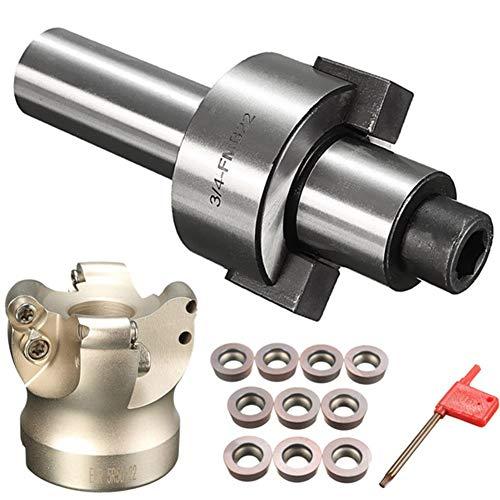 10pcs RDMT1003 Inserts C3 / 4-FMB22 Verlängerungsstange EMR 5R 50-22 Gesicht Schaftfräser Drehwerkzeughalter