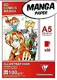 Clairefontaine - 94041C Bloc Manga - Illustrations Papier Layout 100g - 50 feuilles 14,85 x...