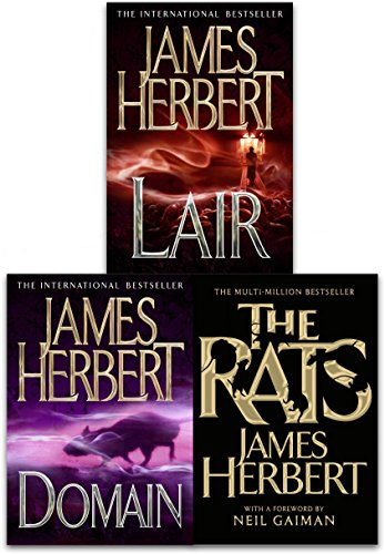 The Rats Trilogy 3 Books Collection Set by James Herbert (Domain, Lair, The Rats)