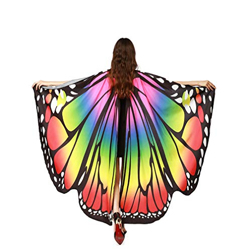 Butterfly Shawl, Women Girls Butterfly Wings Shawl Scarves Nymph Pixie Poncho Costume Party Photo Cosplay Accessory