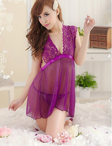 HJL Da donna Sensuale Indumenti da notte Voiles & Strati , purple , one-size purple
