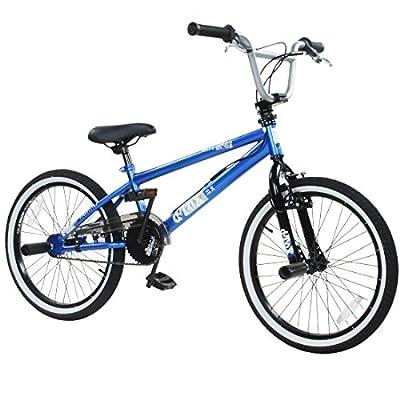 deTOX Rude 20 Zoll BMX Fahrrad Bike Freestyle Street Park Rad Modell 2019 Anfänger ab 140 cm 4 x Stahl Pegs 360° Rotor