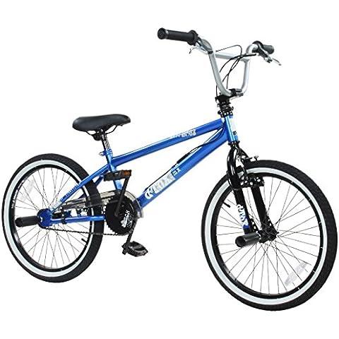 Detox Freestyle dei bambini per principianti BMX 20cm, Blue