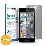 smartect iPhone SE / 5 / 5s / 5c Blickschutzfolie - Privacy Displayschutz mit 9H Härte - Anti-Spy Blickschutzfolie mit Sichtschutz Filter - Blasenfrei