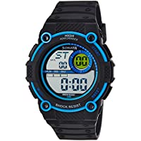 Sonata Digital Black Dial Men's Watch -NK77004PP03