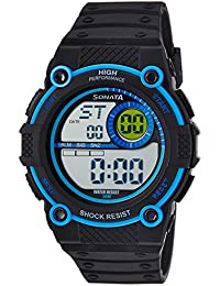 Sonata Digital Black Dial Men's Watch -NK77004PP03