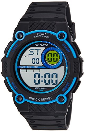 51BlLenkktL - Sonata 77004PP03J Digital Mens watch