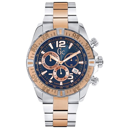 Guessy02002g7 Montre chronographe à Quartz en Verre minéral avec Affichage de la Date pour Homme 45 mm