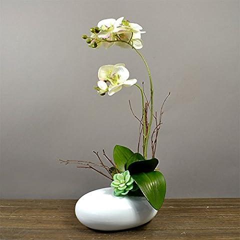 DSN2-cinese fiore di emulazione campione confezionato House Hotel è collocato in emulazione home Phalaenopsis globale arti floreali , Bianco