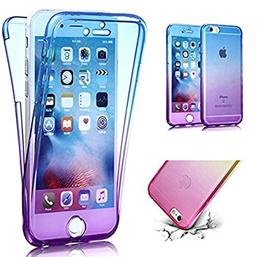 Transparent Coque pour iPhone 5 5S SE TPU Silicone Etui Coque de Protection en TPU avec Absorption de Choc Bumper et Anti-Scratch Hull Couverture pour iPhone 5 5S SE Soft TPU Housse,Vandot [Full Protection] Ultra Transparente Silicone en Gel Souple Housse Ultra Mince Premium TPU Case pour iPhone 5 5S SE Dégradé de Couleur Coque [Exact Fit] 360 Degrés de Protection Gradient Cover