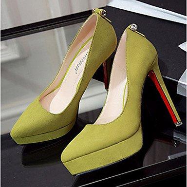 Moda Donna Sandali Sexy donna caduta tacchi Comfort Felpa casual Stiletto Heel altri nero / giallo / il verde / rosa / grigio altri Yellow