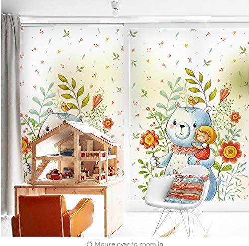 är Glas Dekorative Film Fenster Aufkleber Transparent Undurchsichtig Niedlich Für Kinderzimmer Cartoon ()