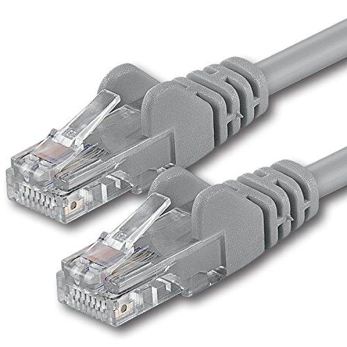 Preisvergleich Produktbild 1aTTack CAT6 2x RJ45 Stecker UTP Netzwerk Patch-Kabel 15 m grau