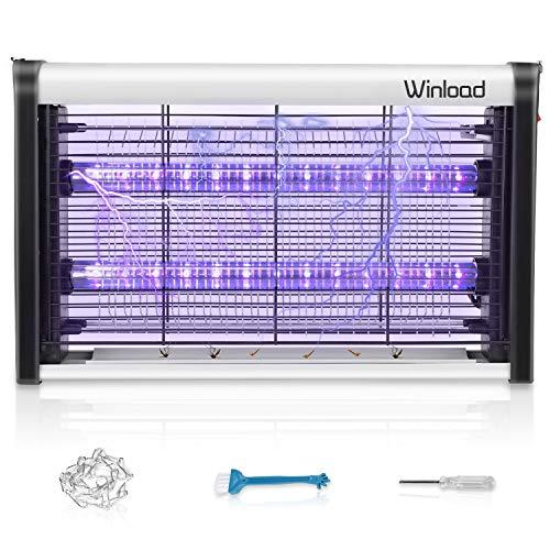 Winload Lampe Anti Moustique Électrique, 4W LED Tue Mouches Destructeur D' Insectes, UV Lampe Anti Moustiques, Tueur Lampe Répulsif, Piège à Moustique Tueur pour Maison Bureau, Efficace Portée 80m²