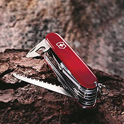 Victorinox Taschenwerkzeug Offiziersmesser Swiss Champ Rot Swisschamp Officer's Knife, Red, 91mm 4