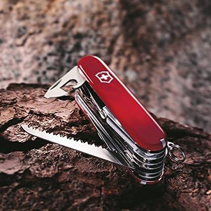 Victorinox Swiss Champ Swiss Army Pocket Knife, Medium, Multi Tool, 33 Functions, Blade, Scissors, Red 4