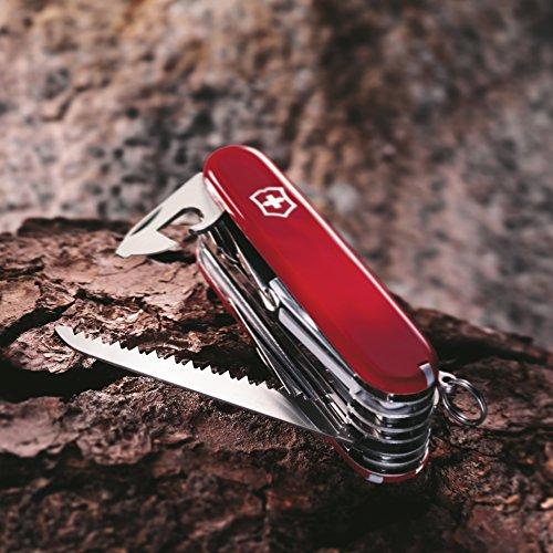51BlQ9FIE8L. SS500  - Victorinox Taschenwerkzeug Offiziersmesser Swiss Champ Rot Swisschamp Officer's Knife, Red, 91mm