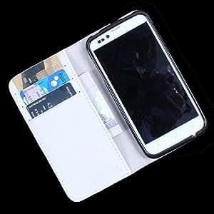 Dooda Genuine Leather Wallet Flip Case For Karbonn S5+ Titanium (WHITE)