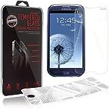 2 x XAiOX® Samsung Galaxy S3 / S3 Neo 0.3mm Schutzglas 9H Panzerglas 2.5D (abgerundete Kanten) Schutzscheibe aus Verbundglas Smartphone Screen Protector