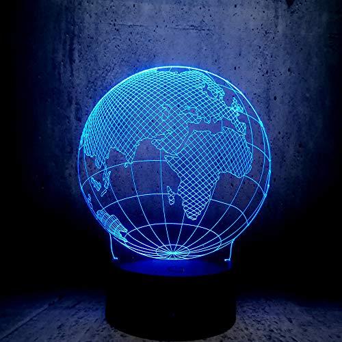 Neuheit Design Tellurion Globus Welt Europa Karte 3D LED Lampe 7 Farben Stimmungswechsel Birne Kind Schreibtisch Dekoration Gadget Geschenk Spielzeug