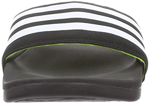 adidas Adilette Supercloud Plus, Herren Slipper, Schwarz (Core Black/Ftwr White/Solar Yellow), 48.5 EU -