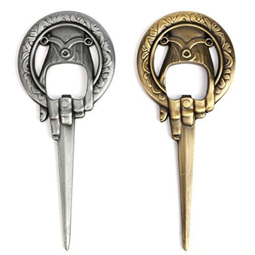 Bayram® Apribottiglie Game of Thrones | King's Hand - Cavatappi per birra Ideale come regalo - Regalo per uomini, merce vino (Bronzo)