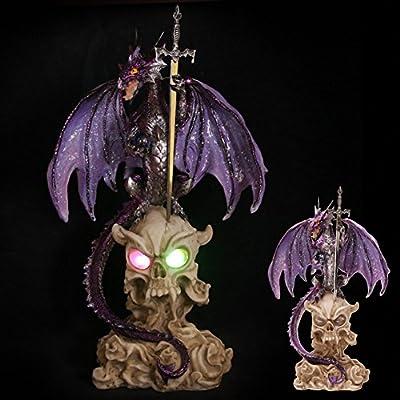 Dark Legends Horned Skull Ice Dragon with LED