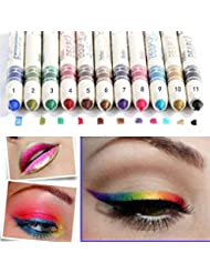 Beauty7 12 Pcs Professional Cosmetic Makeup Eyeliner Eye / Lip Liner Glitter Pencil Set