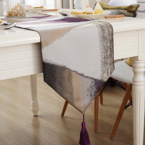 BSNOWF-Chemin de table Chemin de Table Dentelle Pastorale Nappe Thé Table Tissu Couverture Tissu Style Européen Simple Moderne ( Couleur : Violet , taille : 32*200cm )