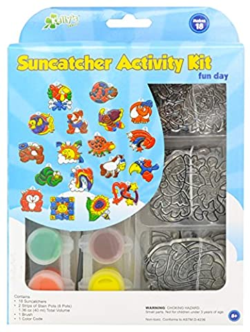 New Image Group Suncatcher Group Activity Kit-Fun Animals 18/Pkg, Other, Multicoloured