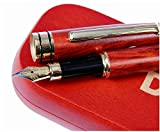 Dryden Stylo-plume En bois de rose De Luxe Avec Étui Cadeau | 100% Artisanal | Ensemble De Stylos-plume pour Cadres | Collection De Stylos Vintage | Stylo Cadeau Affaires Et Antiques |