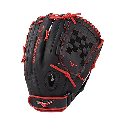 Mizuno MVP Prime Fastpitch gmvp13psef6Auswärts/Krug Modell Handschuhe, Damen, MVP Prime SE Fastpitch GMVP1300PSEF6 Outfield/Pitcher Models Gloves, Black/Red, schwarz/red, 1300 -