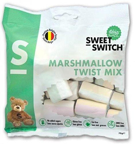 Preisvergleich Produktbild Sweet-Switch Marshmallows ohne Zuckerzusatz,  70g