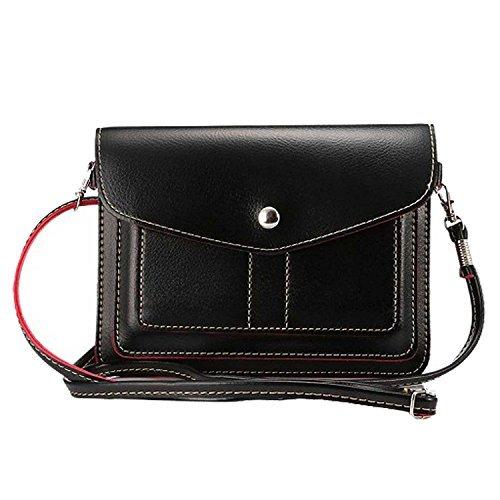 Damen PU Leder 15,2cm Umhängetasche Schultertasche Wallet Tasche für Samsung Galaxy S9+ s9S8+ s8/Note 8/A5A7J5J7/Nokia 7Plus 568/HTC Desire 12/U11Augen/U11+, schwarz (Day-karte-autos Valentines)
