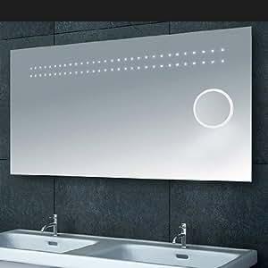 Lux-aqua design luxor miroir de salle de bain miroir de salle de bain avec éclairage lED (l1232B xL 120 cm)