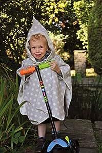 David Fussenegger à capuche Cape étoiles enfant Poncho Gris/beige